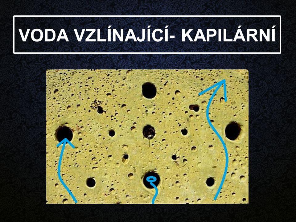 1,5 m - 2,0 m Kapilární vzlínavost