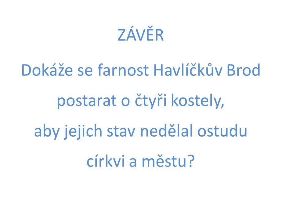 ZÁVĚR Dokáže se farnost Havlíčkův Brod postarat o čtyři kostely, aby jejich stav nedělal ostudu církvi a městu?