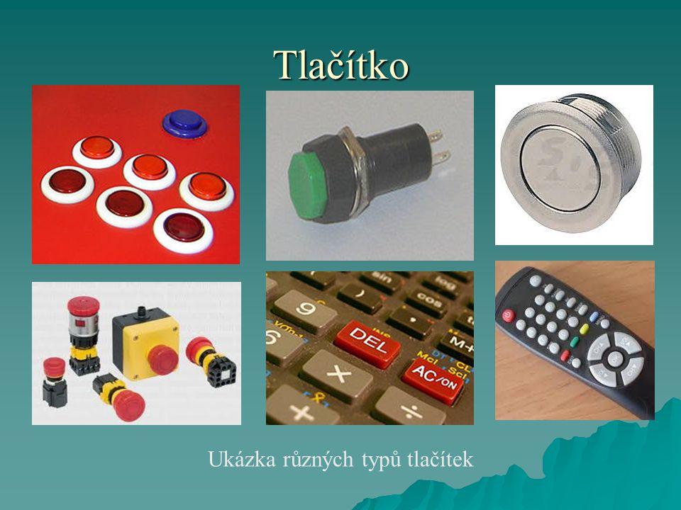 Tlačítko Ukázka různých typů tlačítek
