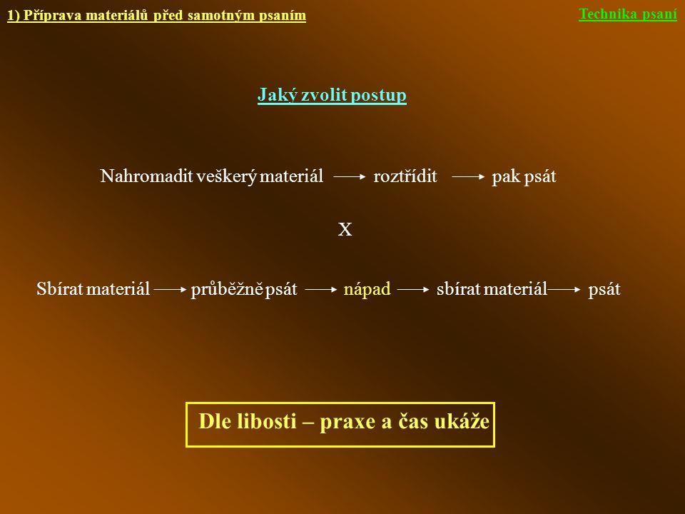 2) Příprava na výkon (vlivy prostředí)