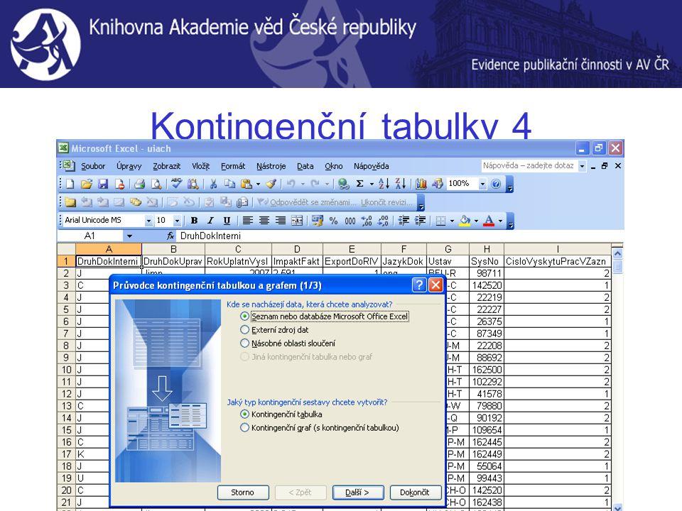 Kontingenční tabulky 4