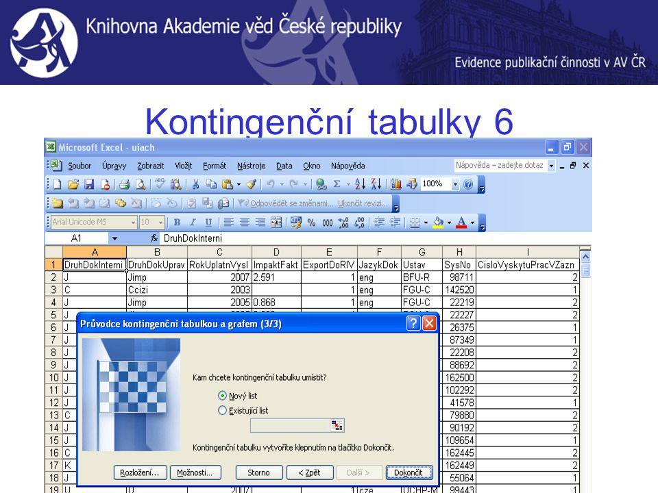 Kontingenční tabulky 6