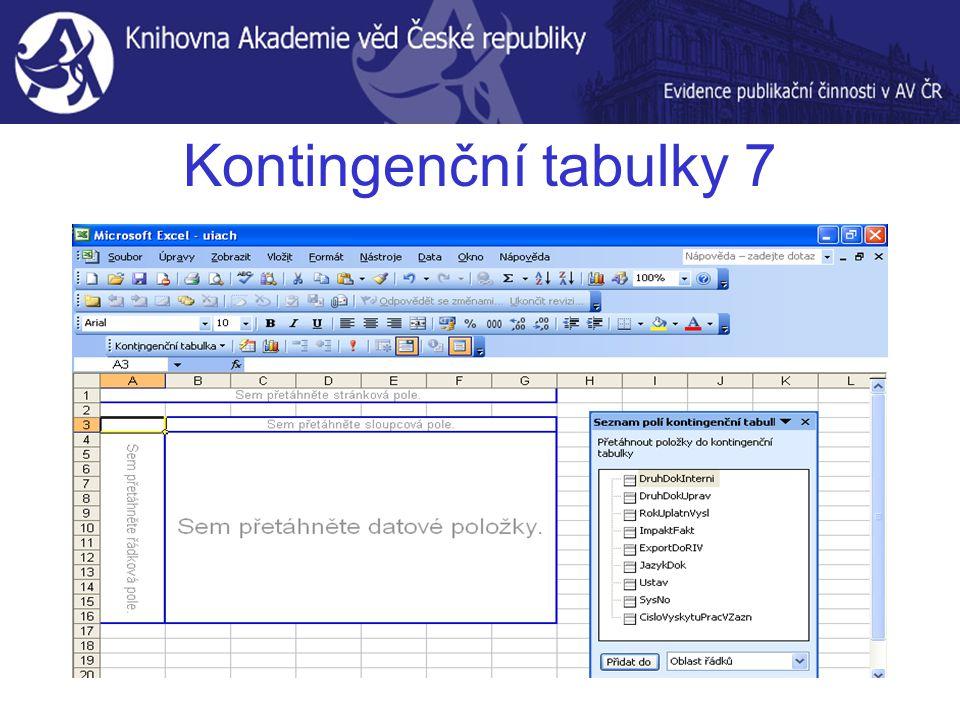 Kontingenční tabulky 7