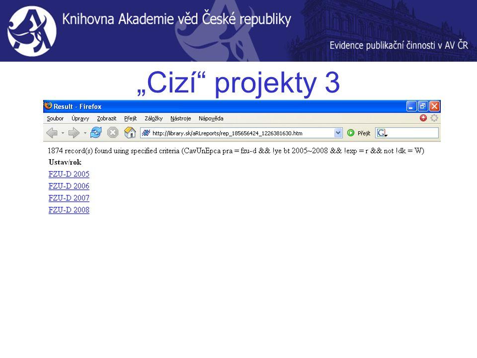 """""""Cizí projekty 3"""