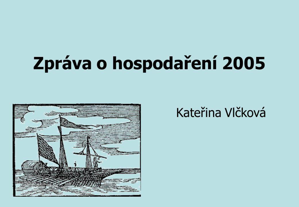 Zpráva o hospodaření 2005 Kateřina Vlčková
