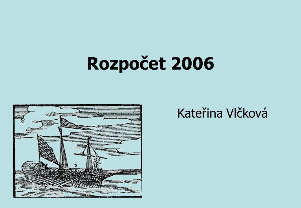 Rozpočet 2006 Kateřina Vlčková
