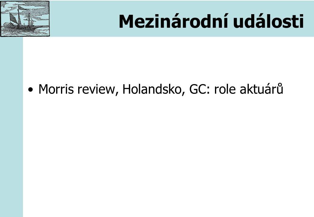 Mezinárodní události Morris review, Holandsko, GC: role aktuárů