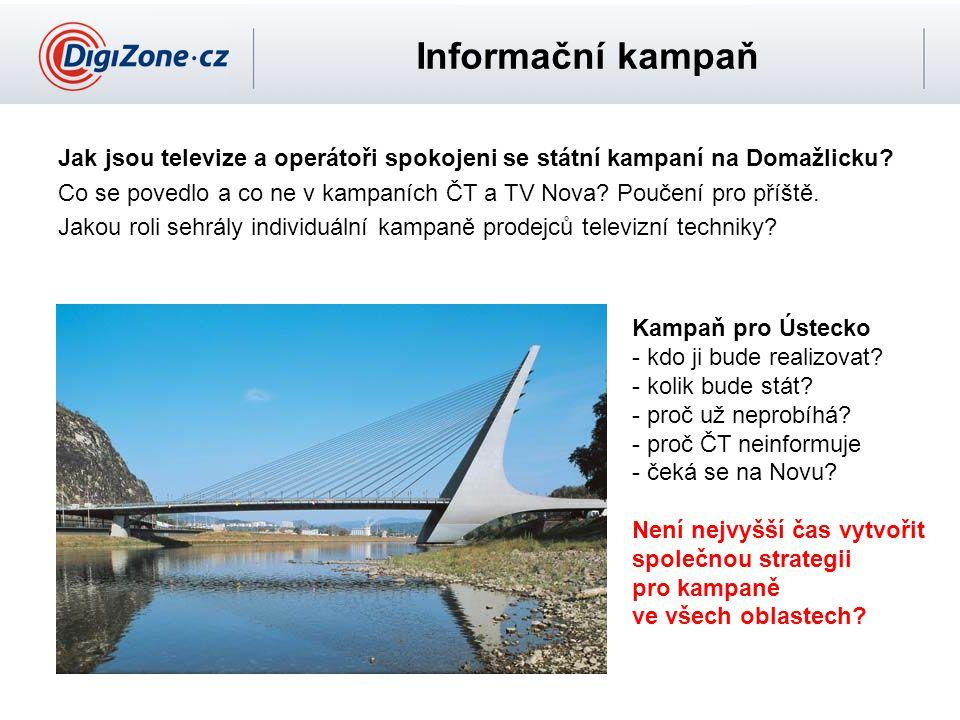 Informační kampaň Jak jsou televize a operátoři spokojeni se státní kampaní na Domažlicku.