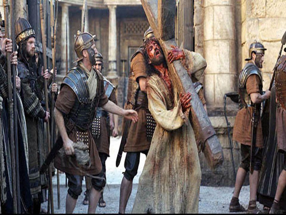 Před ukřižováním, od bičování krvácejícími zády a krví zalitou tváří od ostnů jeho koruny na hlavě, víc jak dva kilometry vláčil svůj kříž který vážil