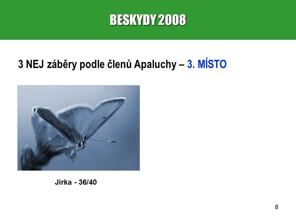 19 BESKYDY 2008 10.VYKOUZLILA OBLOHA 1. místo – Jirka (751 – 4,50) 2.