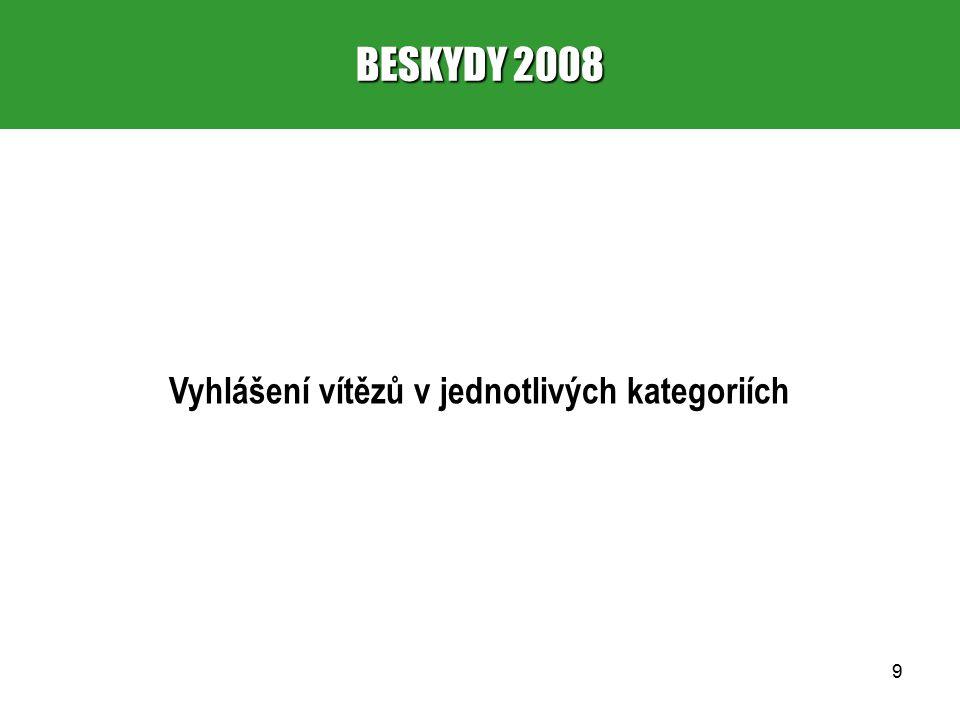 10 BESKYDY 2008 1.HISTORICKÁ STAVBA 1. místo – Zbyněk (667 – 3,99) 2.