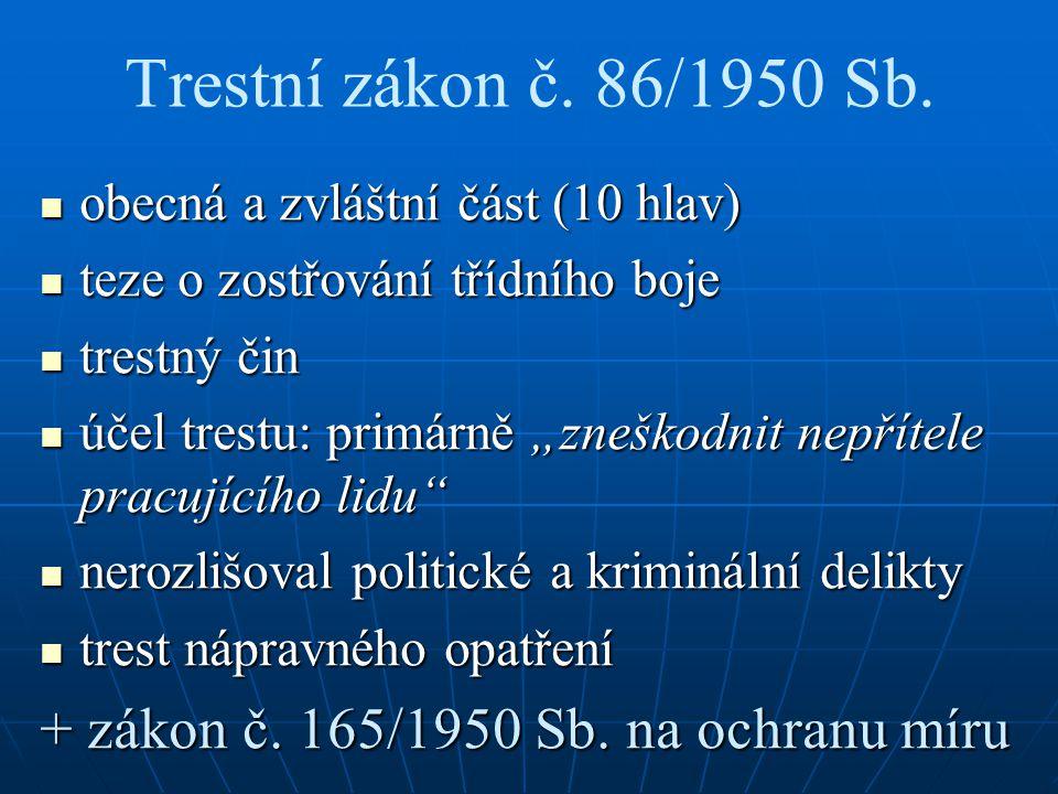 Trestní zákon č. 86/1950 Sb.