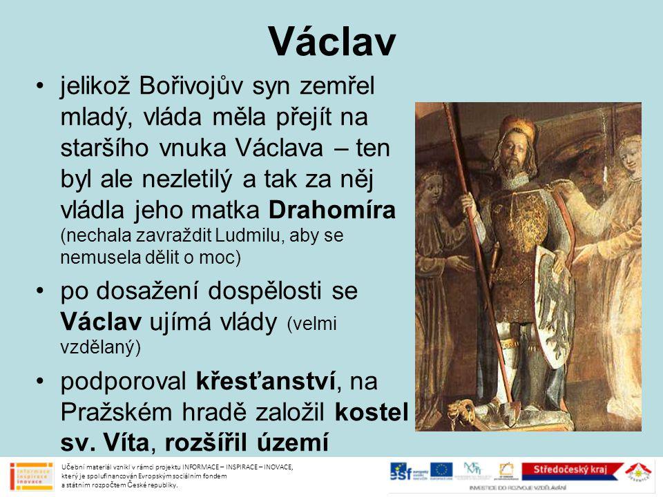 Václav a Boleslav na české území zaútočil německý král Jindřich Ptáčník – Václav sice uhájil samostatnost, ale od té doby musel Jindřichovi každý rok odvádět poplatek za zachování míru to se zřejmě nelíbilo části šlechty a bratrovi Boleslavovi 28.