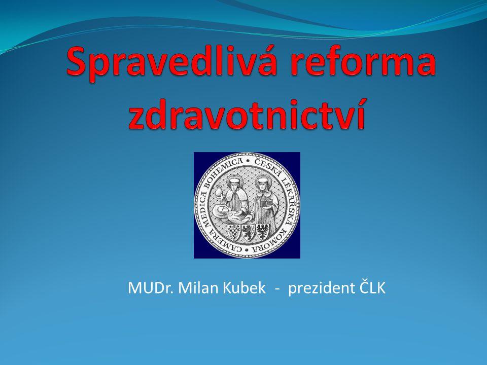 MUDr. Milan Kubek - prezident ČLK