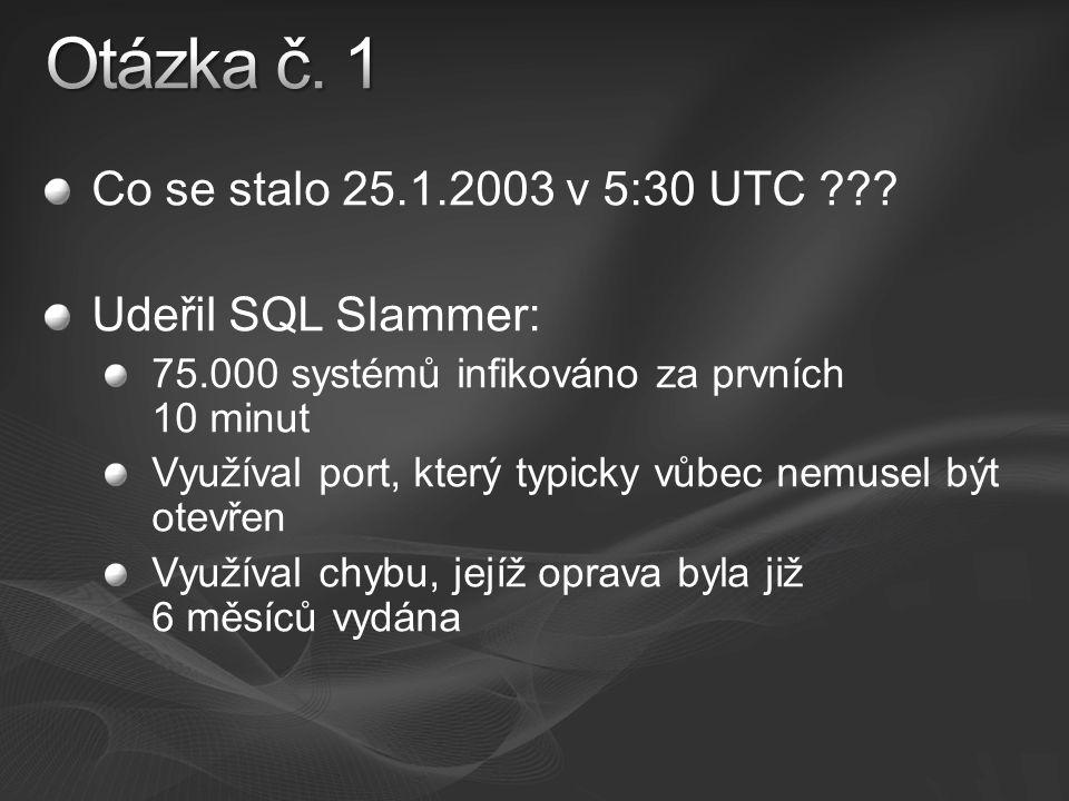 Co se stalo 25.1.2003 v 5:30 UTC .