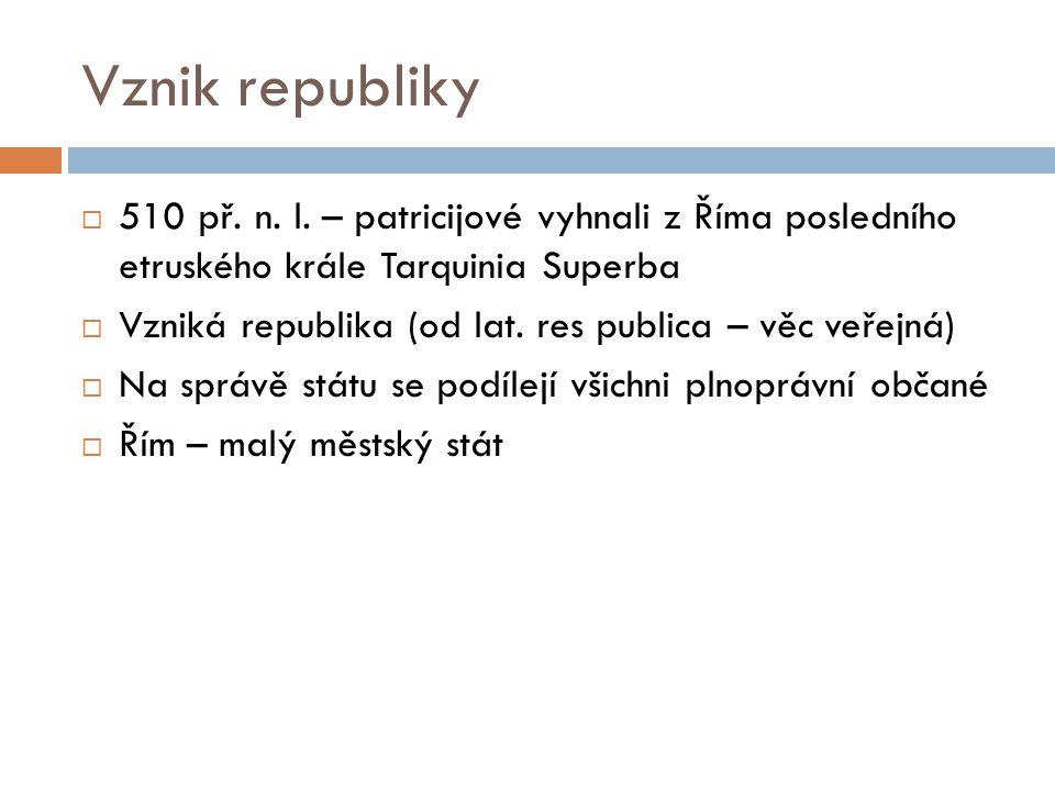 Vznik republiky  510 př. n. l.