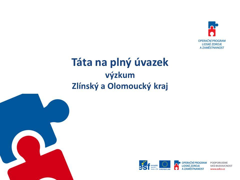Táta na plný úvazek výzkum Zlínský a Olomoucký kraj