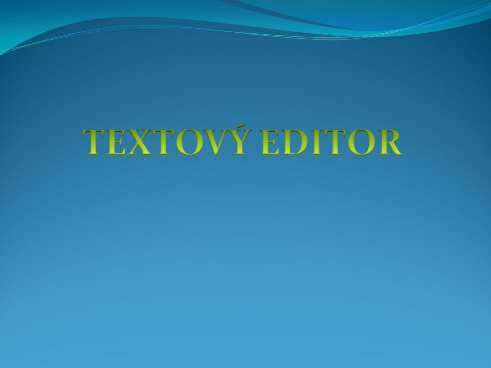 textový editor slouží ke zpracování textu mezi nejpoužívanější textové editory u nás patří WORD, WORD PERFECT, AMI PRO a český Text602 textové editory umožňují manipulovat s textem na úrovni opravování, mazání, přepisování, kopírování, hledání a nahrazování textu, ukládání a otvírání souborů textový editor dokáže manipulovat kromě textu i s tabulkami, obrázky dalšími funkcemi je např: automatické vytváření obsahu, či kontrola pravopisu
