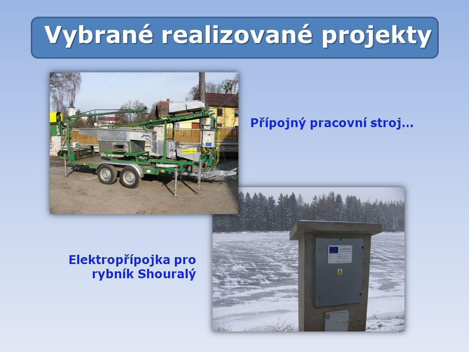 Vybrané realizované projekty Přípojný pracovní stroj… Elektropřípojka pro rybník Shouralý