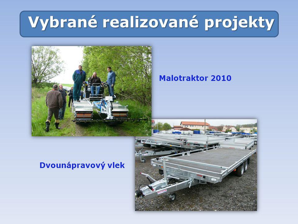 Vybrané realizované projekty Malotraktor 2010 Dvounápravový vlek