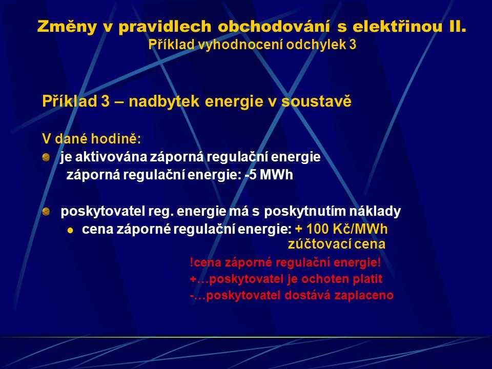 Změny v pravidlech obchodování s elektřinou II.