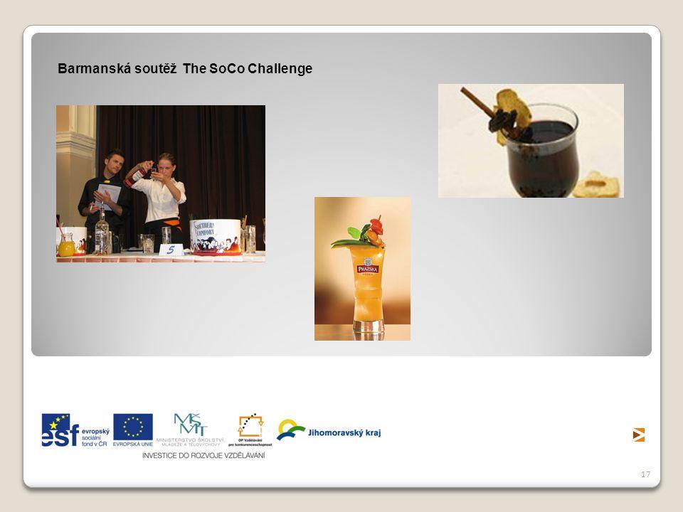 17 Barmanská soutěž The SoCo Challenge