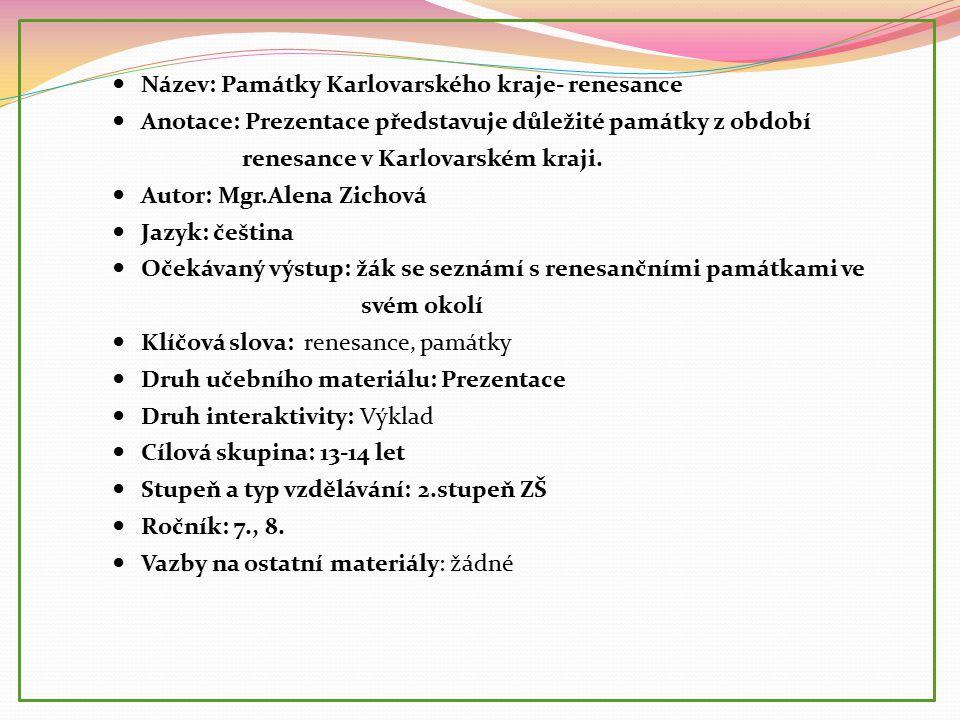 Seznam použité literatury a pramenů: Autor: Mgr.
