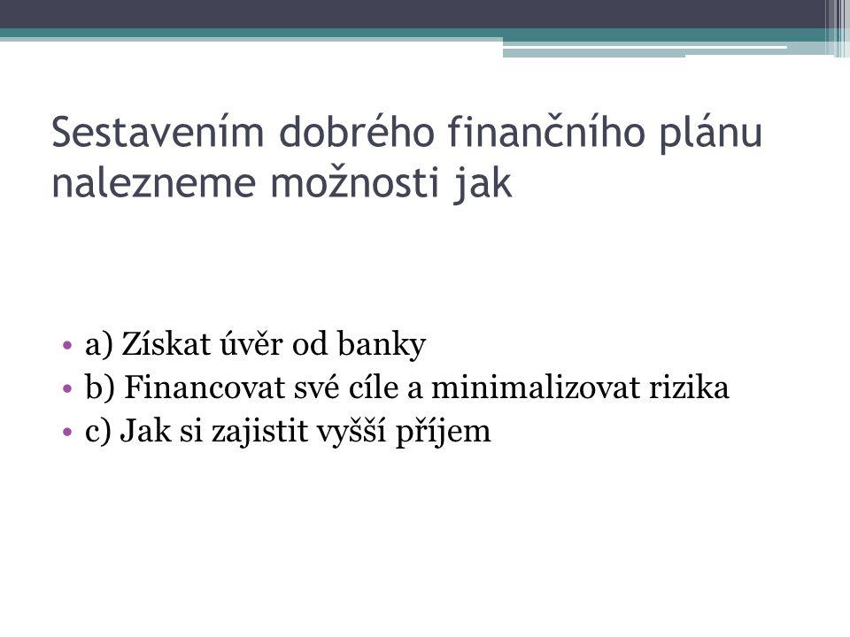 Rodina Nových prodala svůj byt, o jaký příjem se jedná a) Jednorázový b) Nepravidelný c) Pravidelný