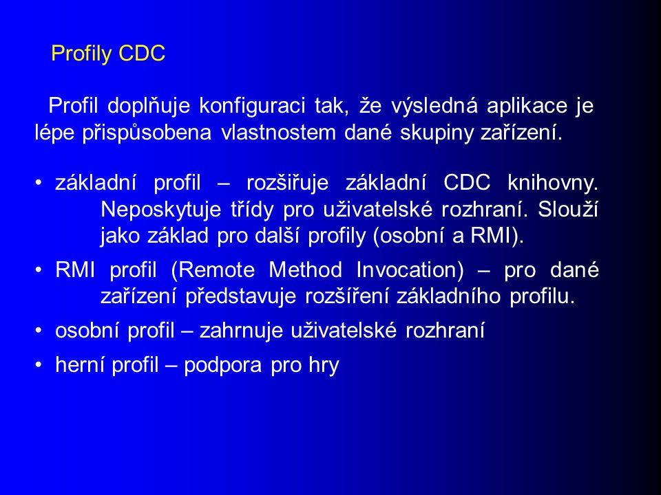 základní profil – rozšiřuje základní CDC knihovny.