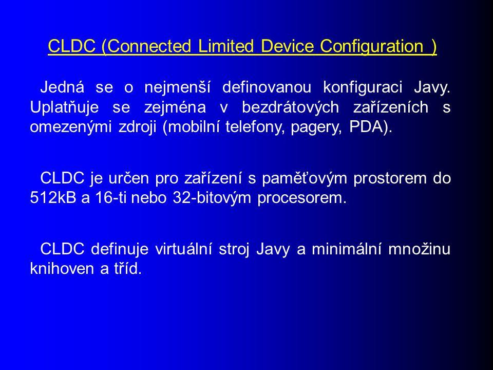 Jedná se o nejmenší definovanou konfiguraci Javy.