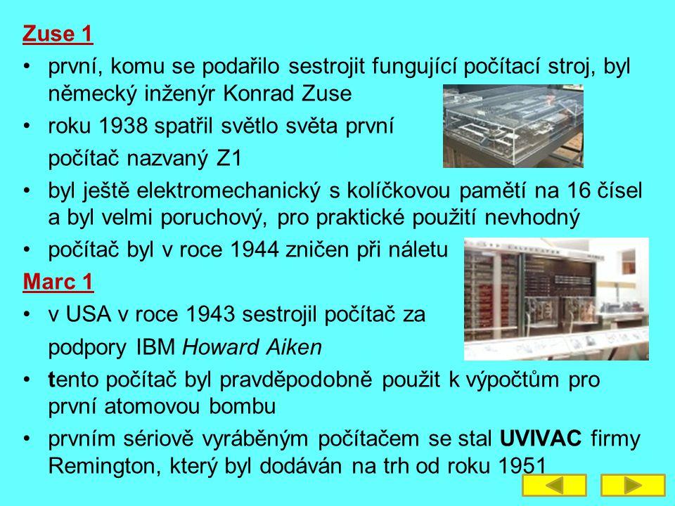 vznikají první osobní počítače – Personál Computer – PC následující léta byla ve znamení vývoje velkých sálových počítačů vznikaly velké klimatizované sály a obrovská výpočetní střediska pod tlakem praktického využití vznikala nutnost, aby každý, kdo potřebuje početní výkon měl na svém stole svůj počítač SAPO prvním počítačem vyrobeným v Československu byl SAPO (SAmočinný POčítač), který byl uveden do provozu v roce 1957