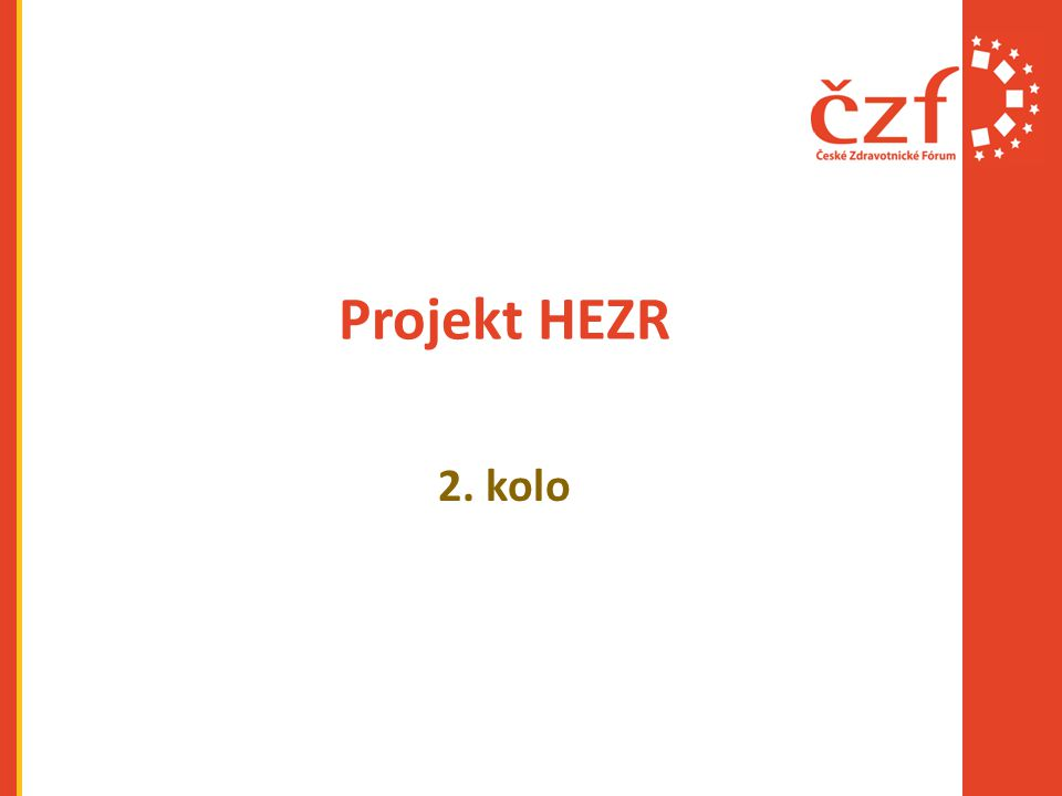 Projekt HEZR 2. kolo