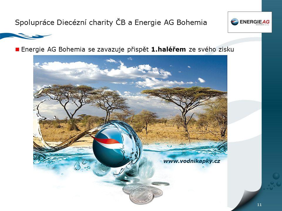 11 Spolupráce Diecézní charity ČB a Energie AG Bohemia Energie AG Bohemia se zavazuje přispět 1.haléřem ze svého zisku