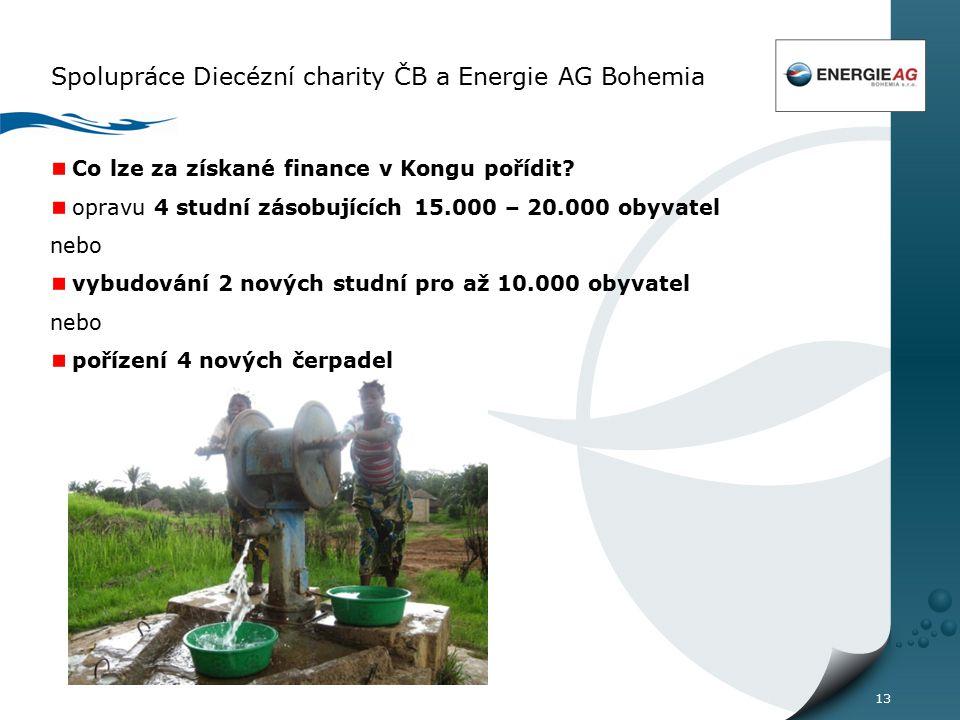 13 Spolupráce Diecézní charity ČB a Energie AG Bohemia Co lze za získané finance v Kongu pořídit.