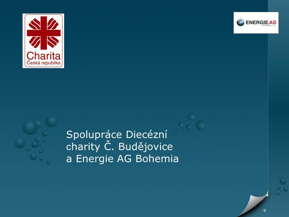 10 Spolupráce Diecézní charity ČB a Energie AG Bohemia jako konkrétní krok k výročí Světového dne vody 22.3.2009 uzavřely Diecézní charita České Budějovice a Energie AG Bohemia s.r.o.