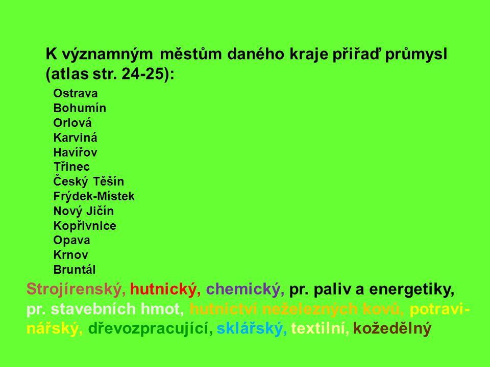 Strojírenský, hutnický, chemický, pr.paliv a energetiky, pr.