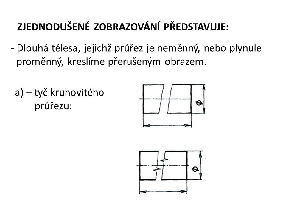 Přerušení obrazce: b) – tyč čtvercového průřezu: 30 x 30