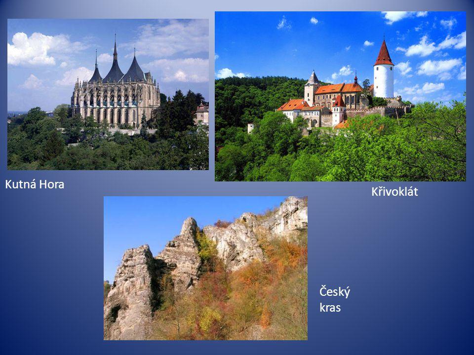 Kutná Hora Křivoklát Český kras