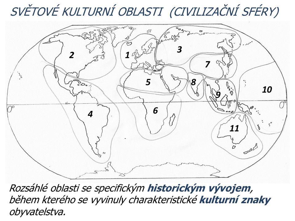 1 9 7 85 6 4 2 3 10 11 Rozsáhlé oblasti se specifickým historickým vývojem, během kterého se vyvinuly charakteristické kulturní znaky obyvatelstva. SV
