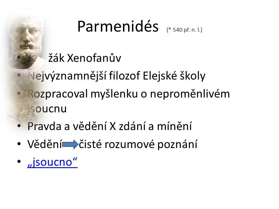 Parmenidés (* 540 př. n.