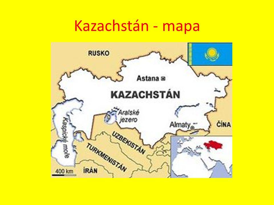 Kazachstán - mapa