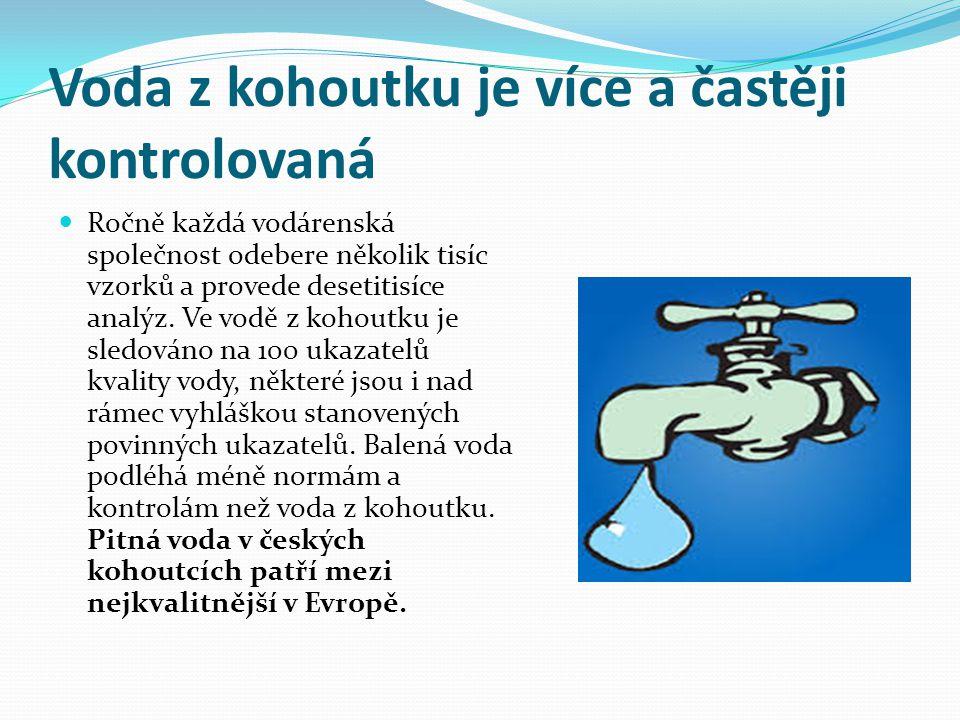 Otázky .Co pijete Vy - balenou vodu nebo vodu z kohoutku .