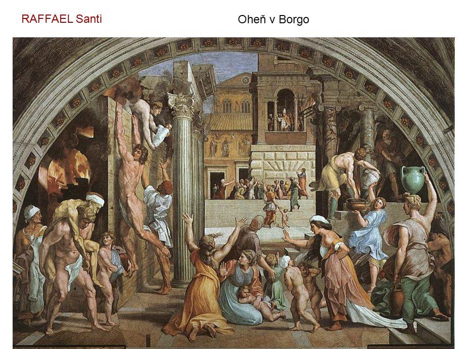 MICHELANGELO Buonarroti Stvoření člověka (detail ze Sixtinské kaple) – 1508 - 12