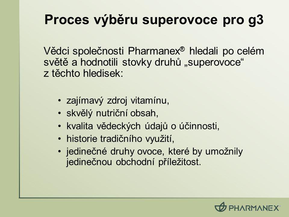 """Vědci společnosti Pharmanex ® hledali po celém světě a hodnotili stovky druhů """"superovoce"""" z těchto hledisek: zajímavý zdroj vitamínu, skvělý nutriční"""