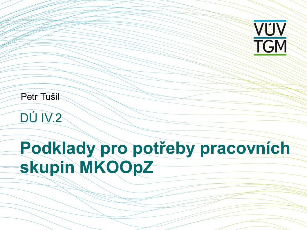 DÚ IV.2 Podklady pro potřeby pracovních skupin MKOOpZ Petr Tušil