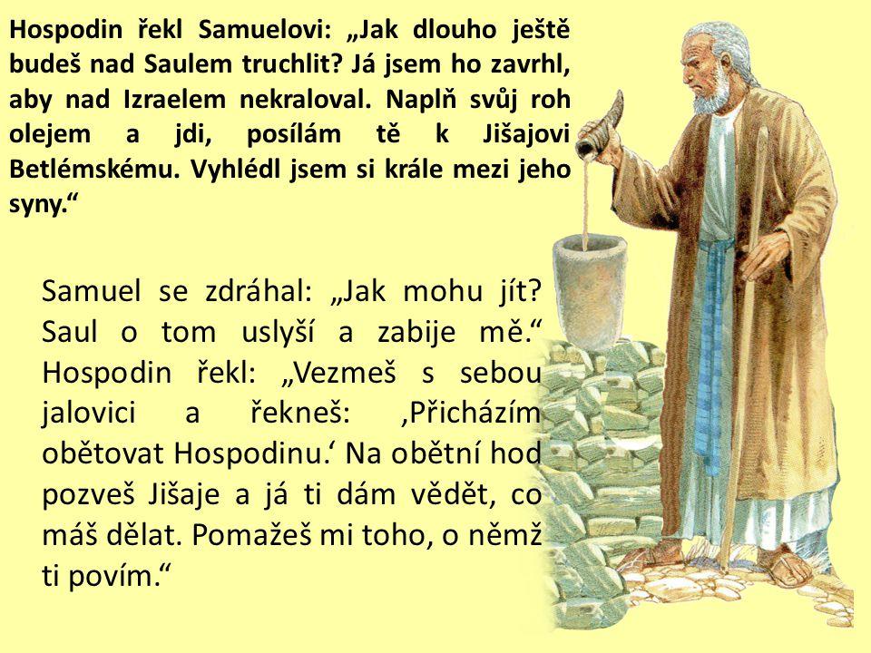 """Saul doznal Samuelovi: """"Zhřešil jsem, neboť jsem přestoupil Hospodinův rozkaz i tvá slova. Bál jsem se lidu, proto jsem je uposlechl. Nyní však sejmi"""