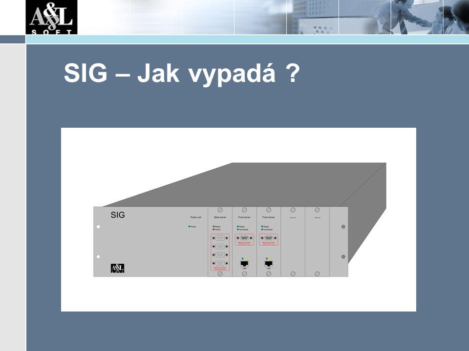SIG – Jak vypadá