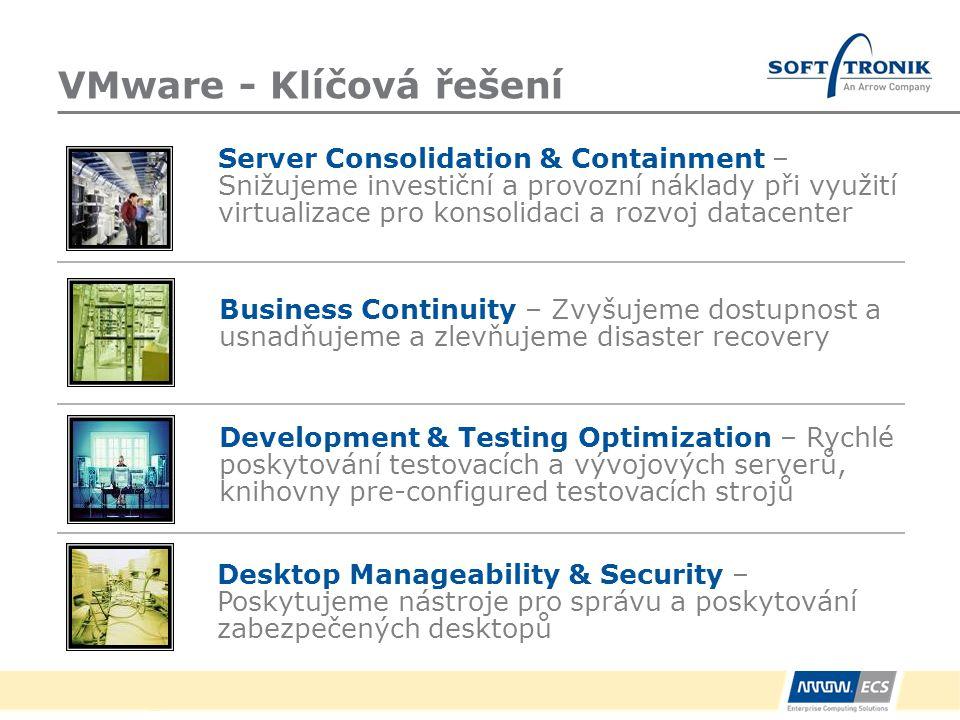 VMware - Klíčová řešení Server Consolidation & Containment – Snižujeme investiční a provozní náklady při využití virtualizace pro konsolidaci a rozvoj