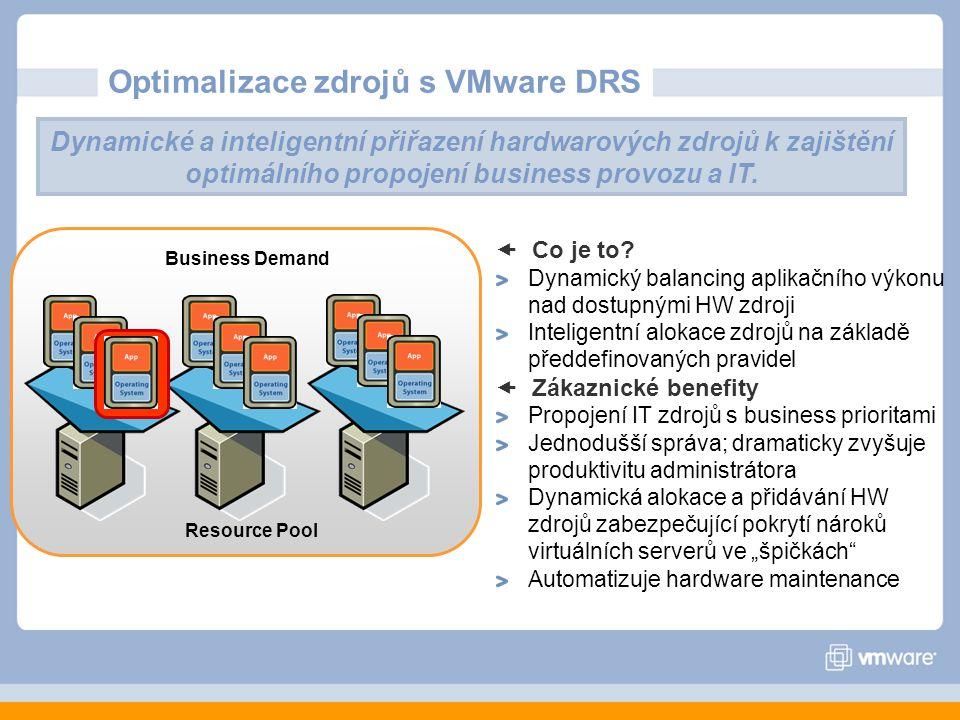 Optimalizace zdrojů s VMware DRS  Co je to.