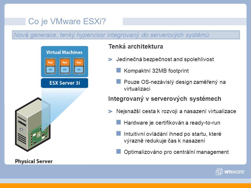 Co je VMware ESXi.